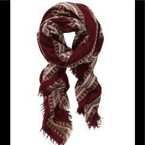 Aritzia Wilfred Mixed Stripe Blanket Wrap Scarf